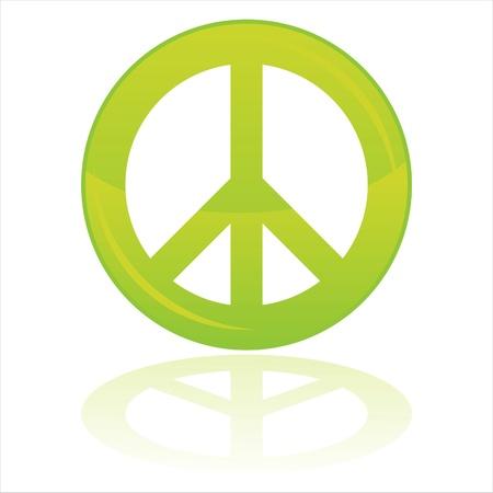 simbolo de la paz: s�mbolo de paz brillante aislado en blanco