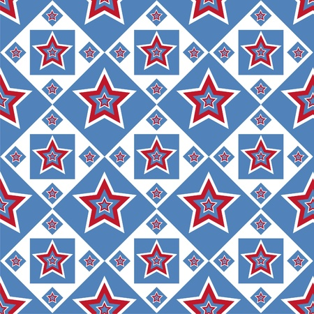 cute american colored stars pattern Vector