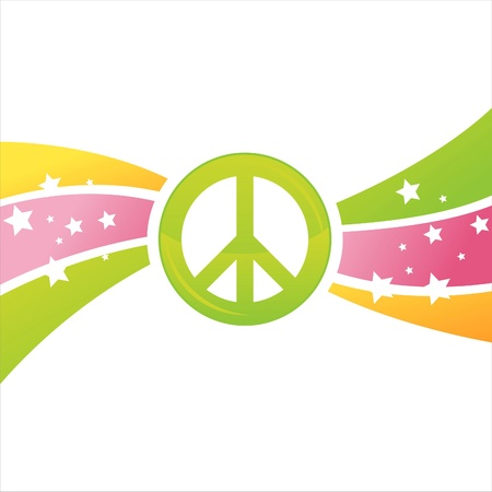 peace and love: colorful peace background