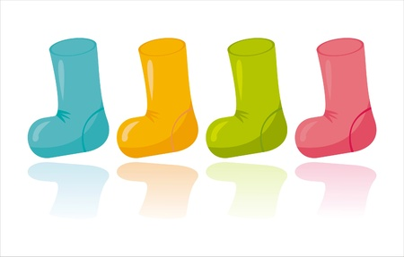 set of 4 colorful socks Vector