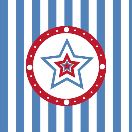 cute american colored stars background Vector