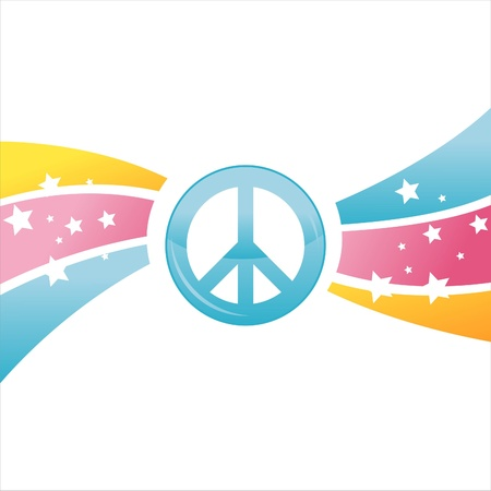 colorful peace background Vector
