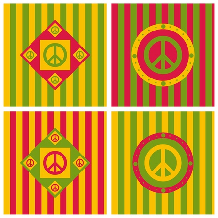 peace and love:  set of 4 cute peace backgrounds