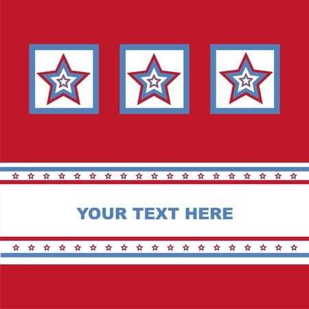 cute american colored stars card Vector