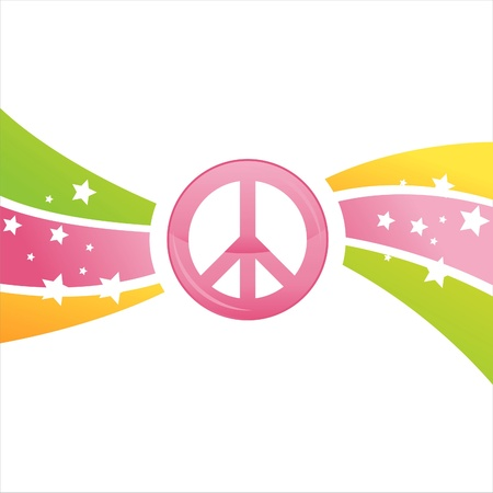 colorful peace background Stock Vector - 9734730