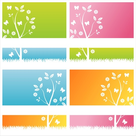 set of 4 colorful floral backgrounds Stock Vector - 9915203