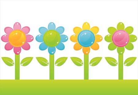 Satz von 4 Blumen