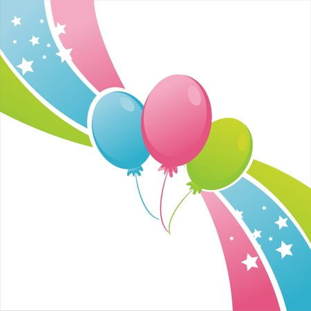 balloon background: colorful birthday balloons background