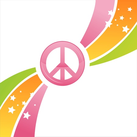 green peace:  colorful peace background