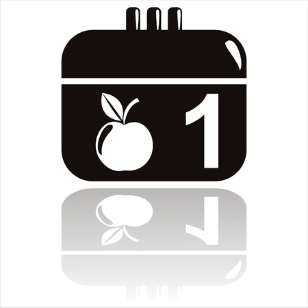 black school calendar icon Stock Vector - 10353905