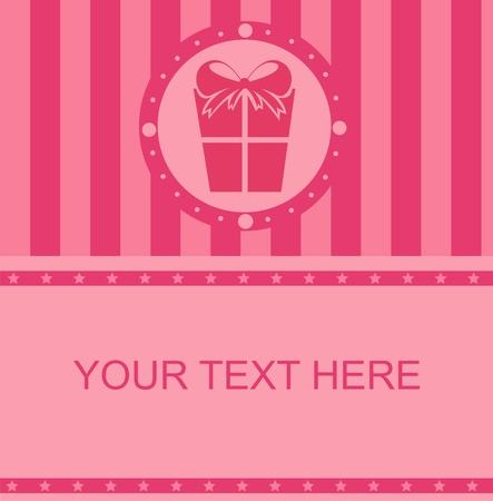 cute pink presents frame Vector