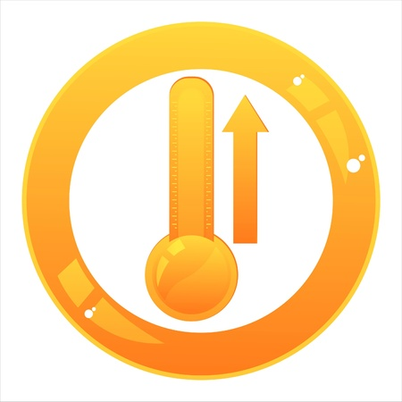 glossy thermometer sign Vector