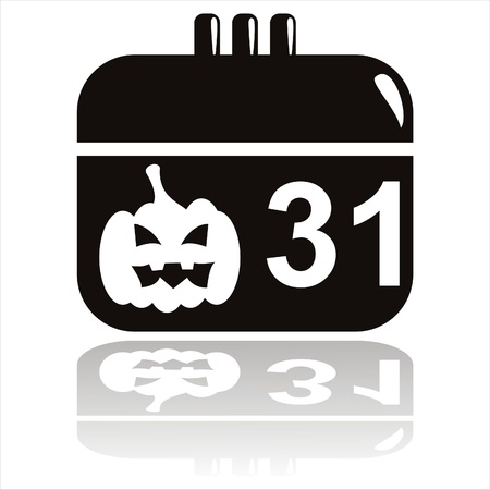 black halloween calendar icon Vector