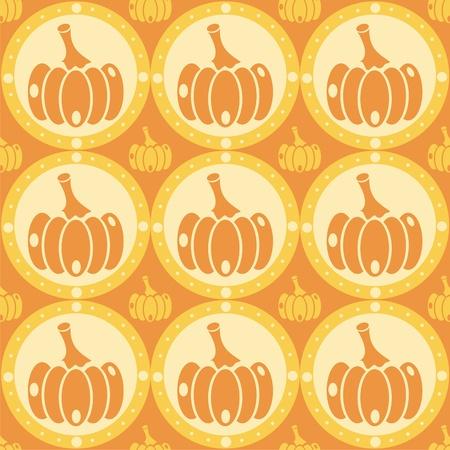 cute pumpkins pattern Vector