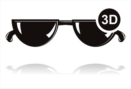 black 3D glasses icon Stock Vector - 10866608