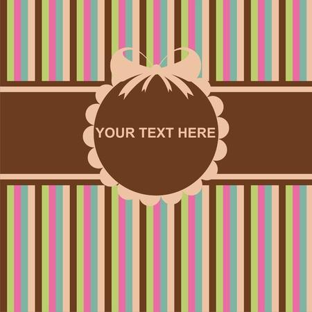 cute colorful invitation card Stock Vector - 10964393