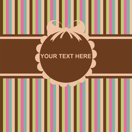 cute colorful invitation card Vector