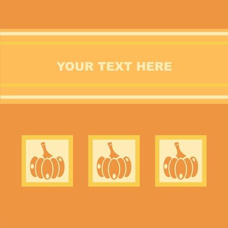 cute pumpkins card Vector