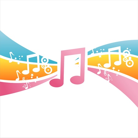 colorful musical background Stock Vector - 11020869