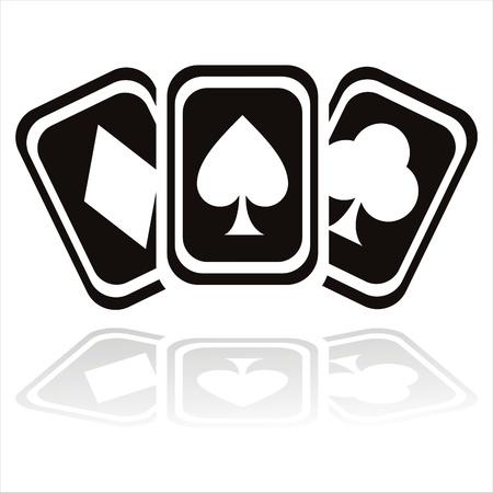 jeu de carte: noire casino cartes icône
