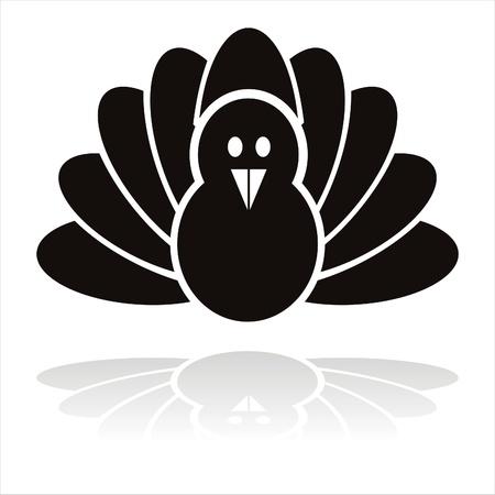 pavo: pavo negro p�jaro icono