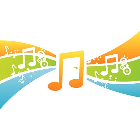 colorful musical background Stock Vector - 11092647