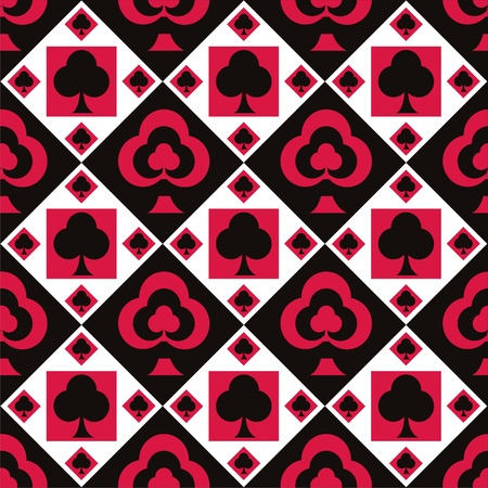 cute casino pattern Vector