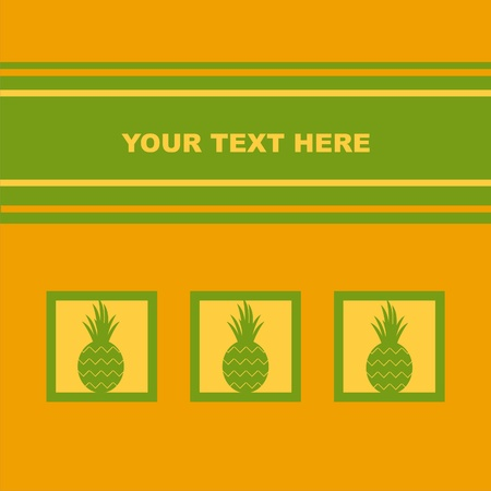 cute pineapple card Vector