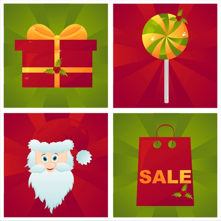 set of 4 christmas backgrounds Vector