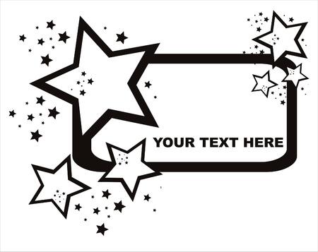 star: black abstract stars frame