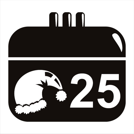 black christmas calendar icon Vector