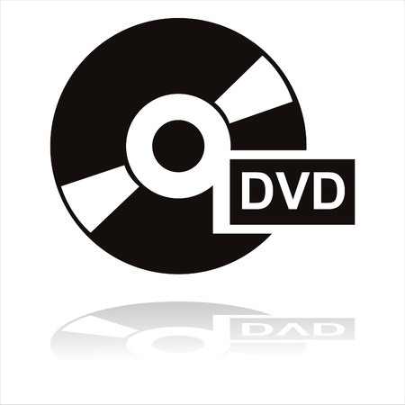 black dvd icon Stock Vector - 11344996