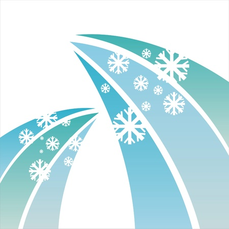 abstract winter snowflakes background Stock Vector - 11386365