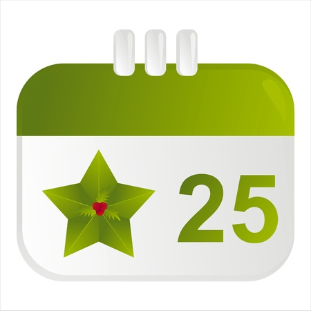 25th:  christmas calendar icon