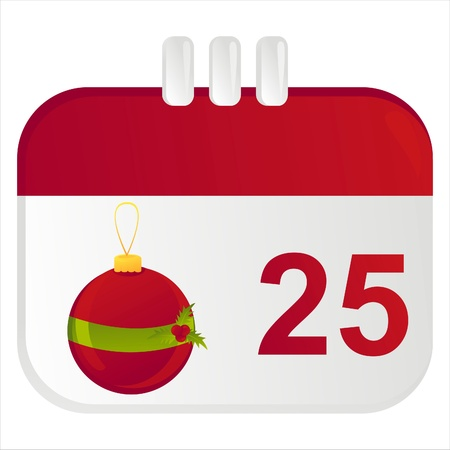 christmas calendar icon Stock Vector - 11386387