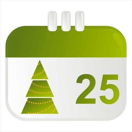 christmas calendar icon Vector