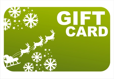 green christmas gift card Vector