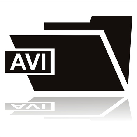 avi: black avi folder icon