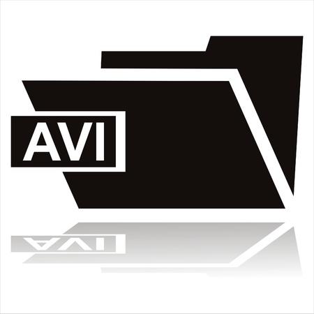 avi: black avi folder icon