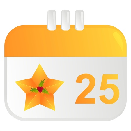 christmas calendar icon Illustration