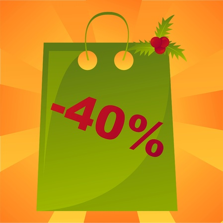 christmas sale bag background