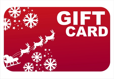 red christmas gift card Vector