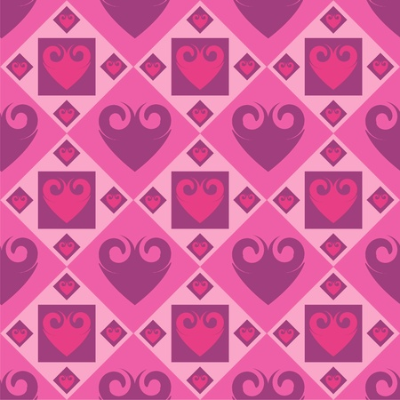 cute abstract hearts pattern