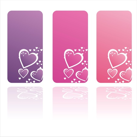 set of 3 colorful st. valentines day frames