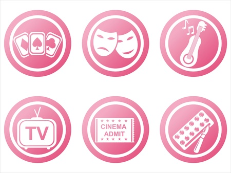 set of 6 pink entertainment signs