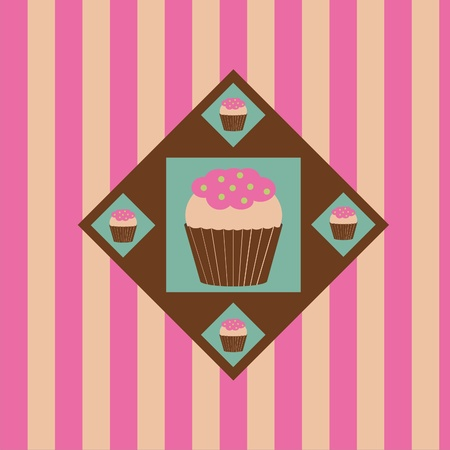 cute colorful cakes background