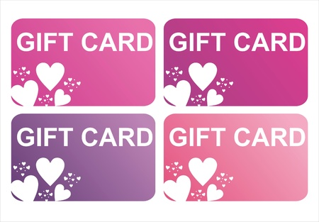 set of 4 st. valentines day gift cards
