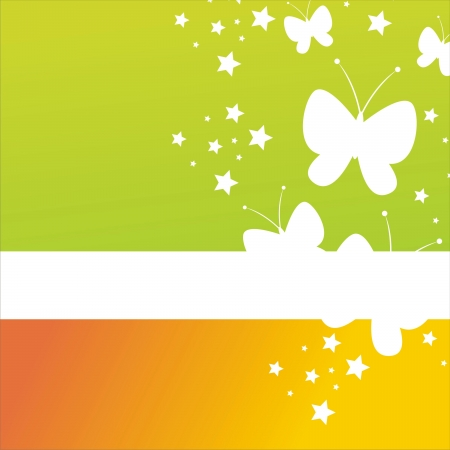 colorful abstract butterflies background Stock Vector - 12000578