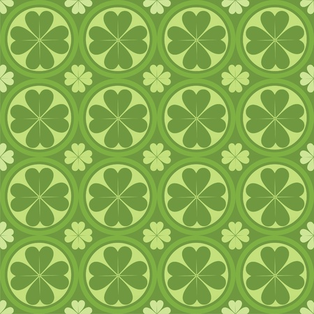 cute clovers pattern Vector