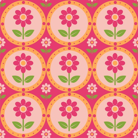 cute colorful flowers pattern Stock Vector - 12025435